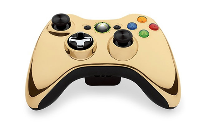 Microsoft Special Edition Wireless Controller Xbox 360 Gold Chrome
